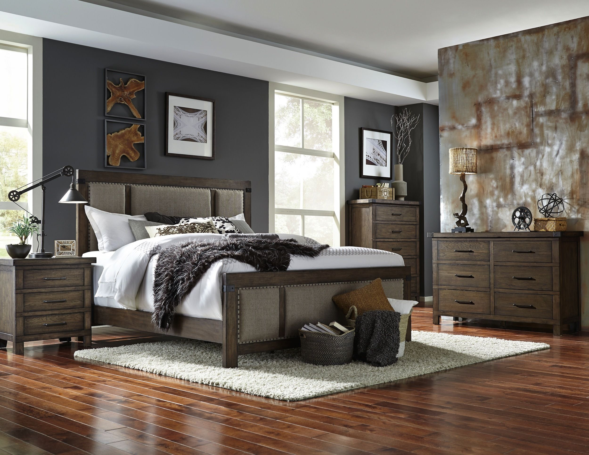 Larimer Square Upholstered Bedroom Set | Broyhill | Home ...