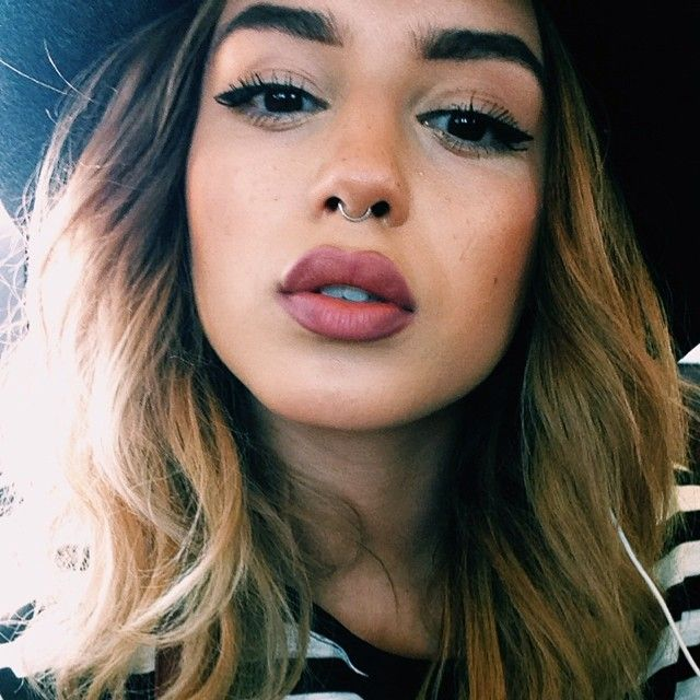 Nyx Mauve Slim Lip Pencil Matte Lipstick In Whipped Caviar Nose Piercing Piercings Piercing