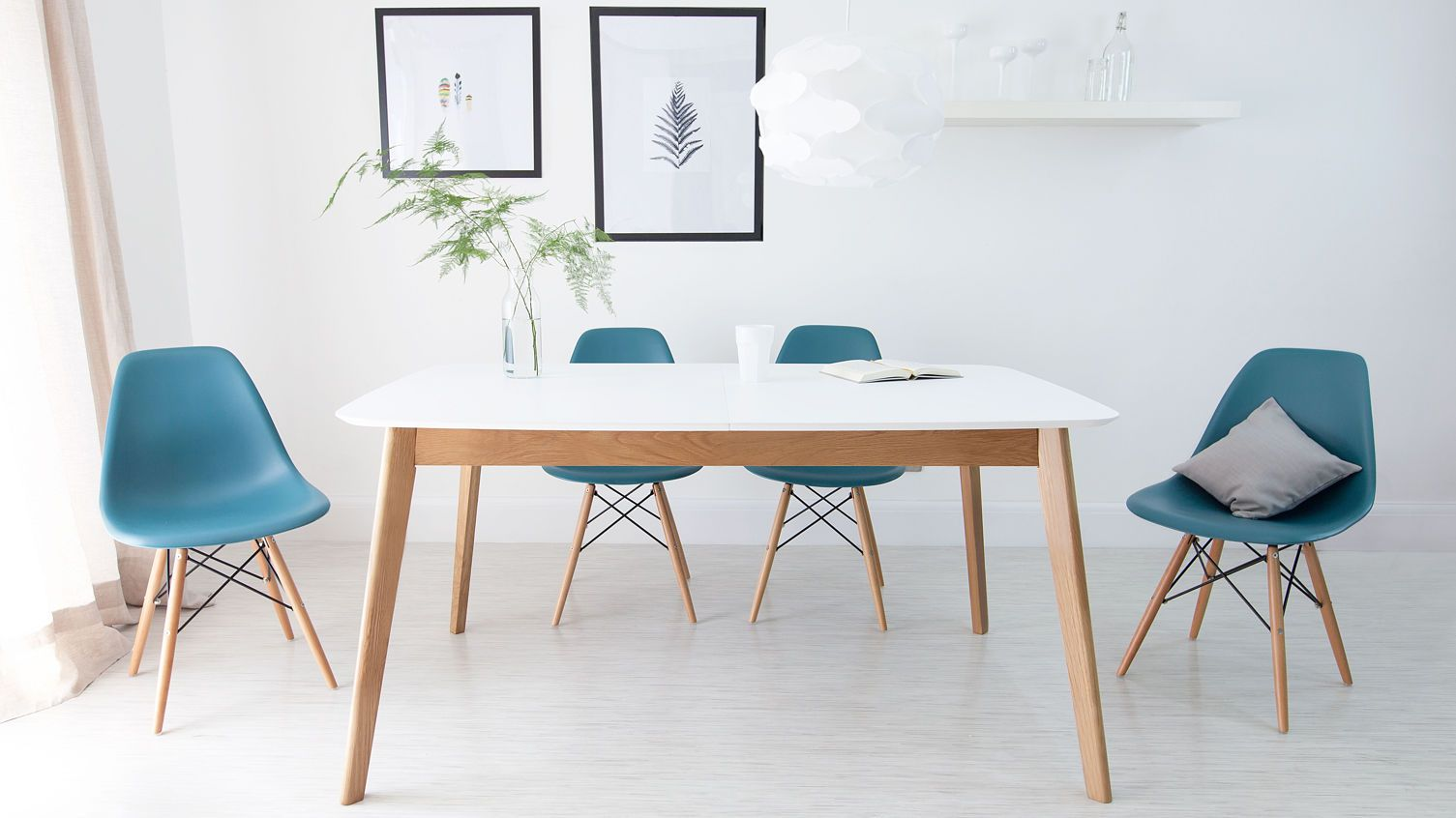 Eames Dining Chair And Oak Dining Table #1