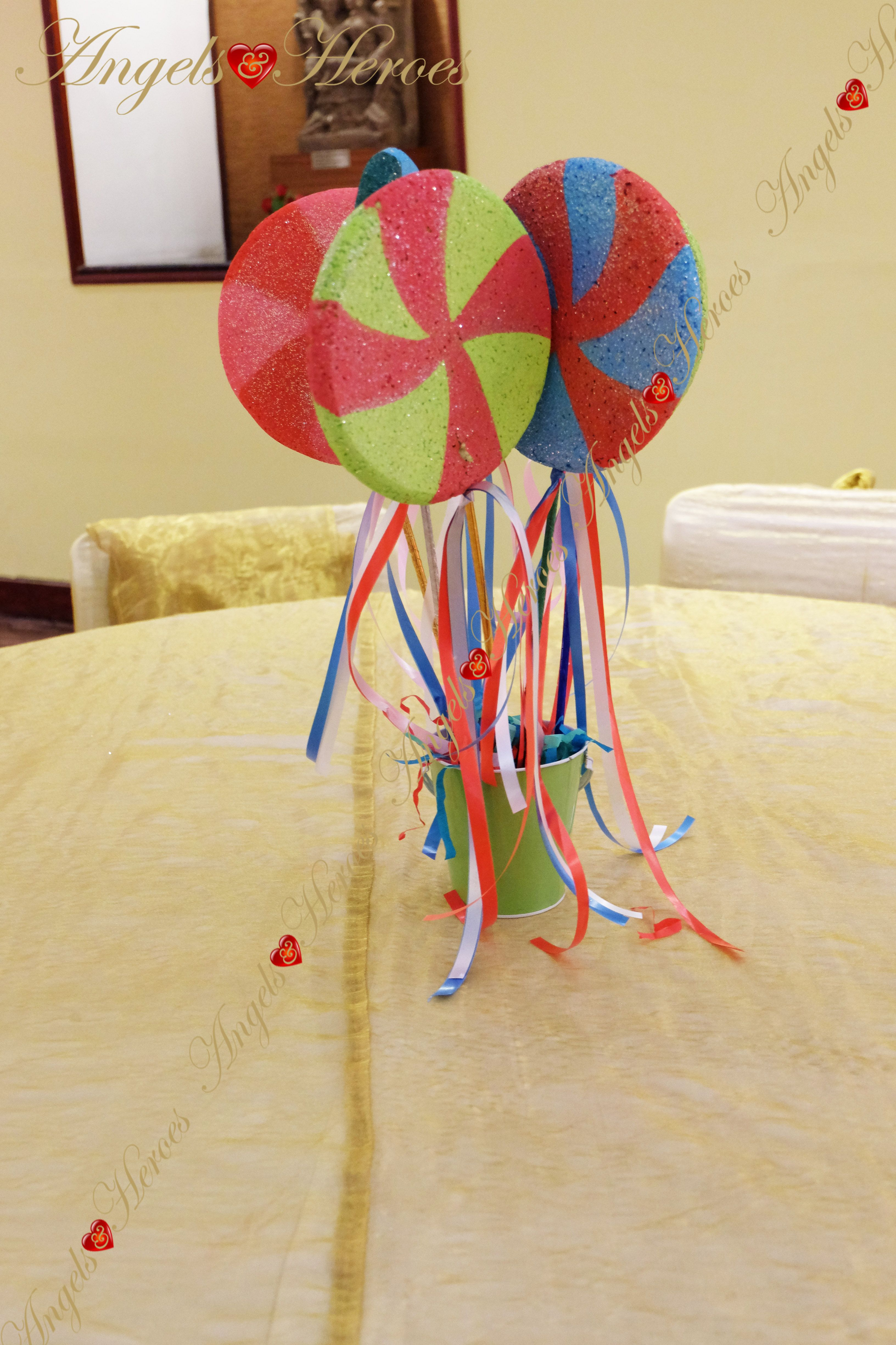 Candy Land Theme Table Centers