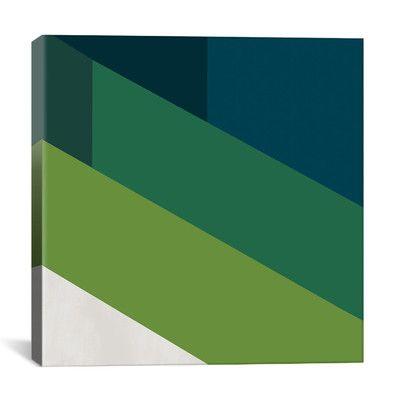 iCanvasArt Modern Art Green Blades of Grass Graphic Art on Canvas