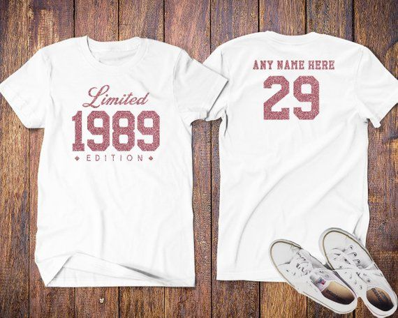 e383b8a165c604 1989 Limited Edition 30th Birthday Party Shirt, 30 years old shirt, limited  edition 30 year old, 30th birthday party tee shirt Custom,Vintage tshirt.