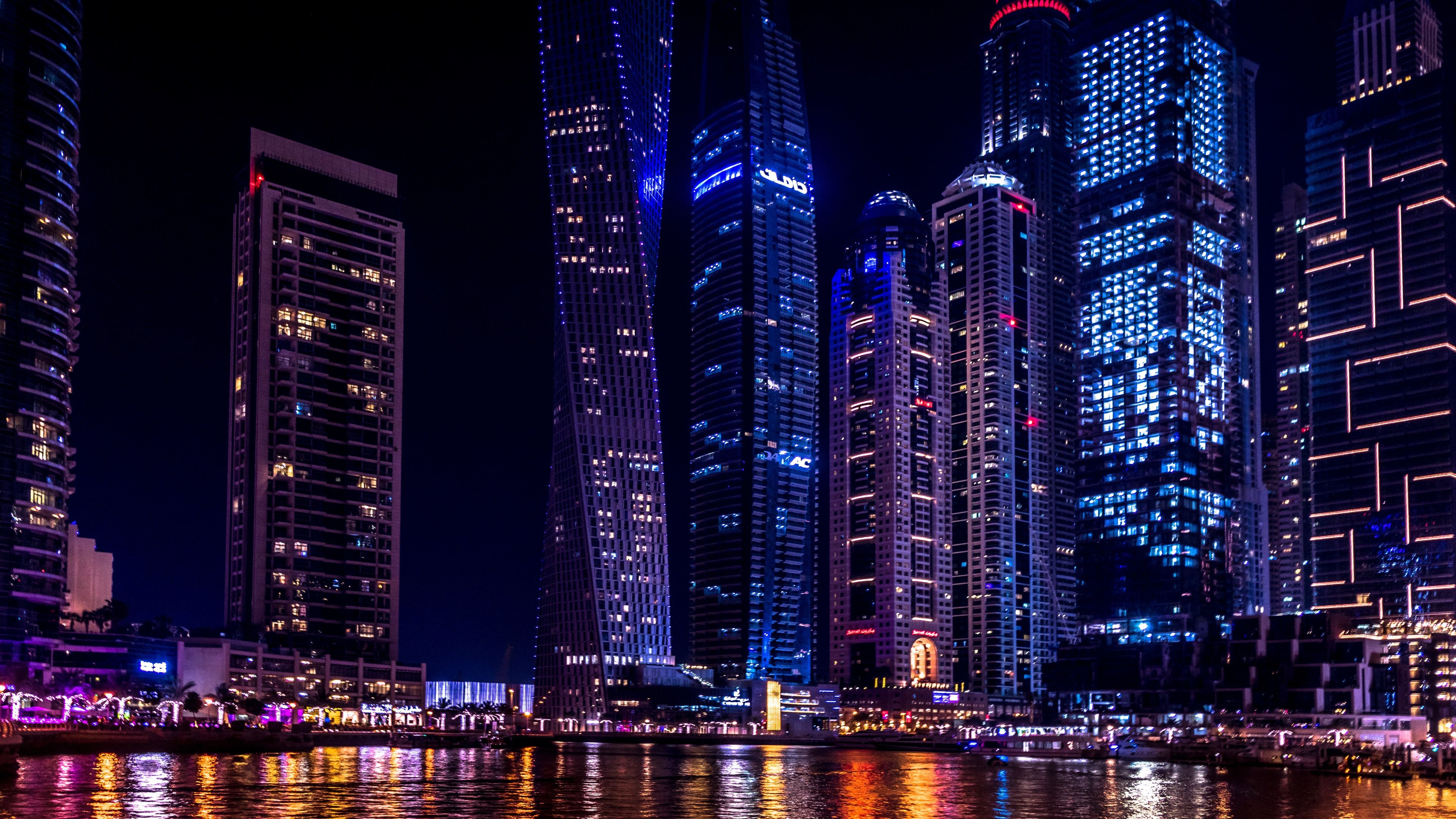 Dubai City Night View 3840 2160 Dubai City Cool Places To Visit Visit Dubai