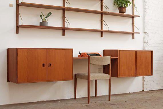 Danish Office Credenza : Danish floating credenza desk $2 250 furniture pinterest