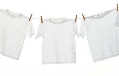 Make white t-shirts white again.  One part Dawn dish washing liquid mixed with two parts hydrogen peroxide