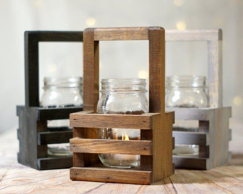 6 Wood Box Centerpiece Bulk Wishing Well Basket Mason Jar Etsy In 2020 Wood Box Centerpiece Wood Boxes Wooden Planters