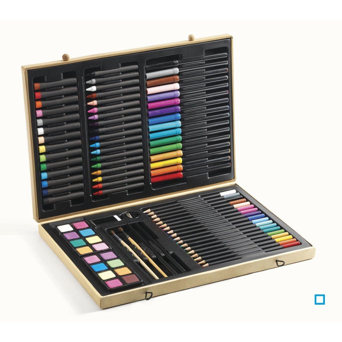 Grande Boite De Couleurs Coffret Dessin Crayons De Cire Coloriage