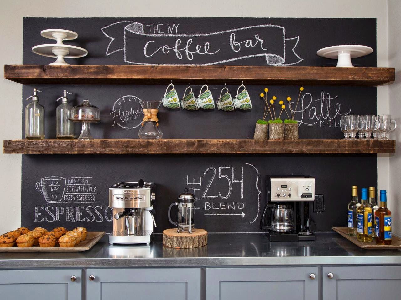 25+ DIY Coffee Bar Ideas for Your Home (Stunning Pictures) | Gain ...