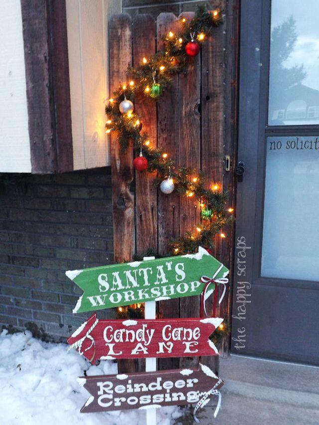 10 increíbles adornos navideños para jardín -   - jardines navideos