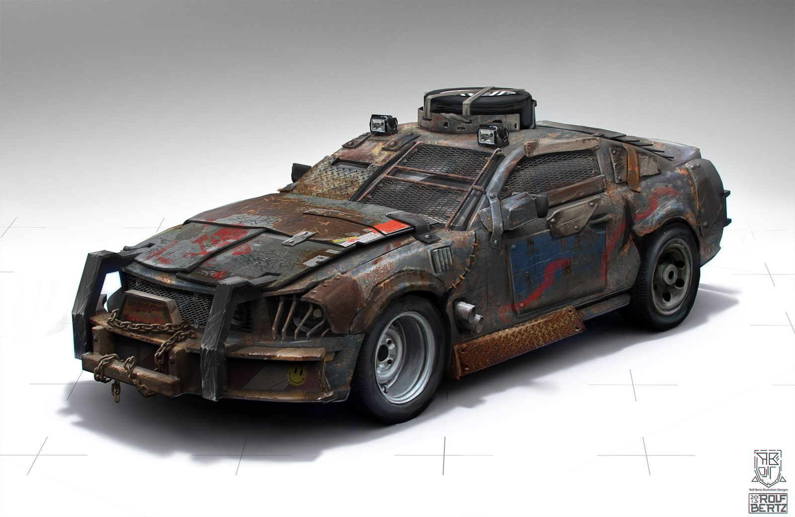 Wasteland Car Rolf Bertz On Artstation At Https Www Artstation
