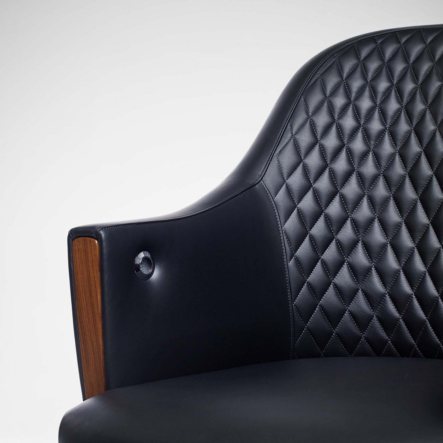 Riviera Quilted Desk Chair Black Sofas & Chairs