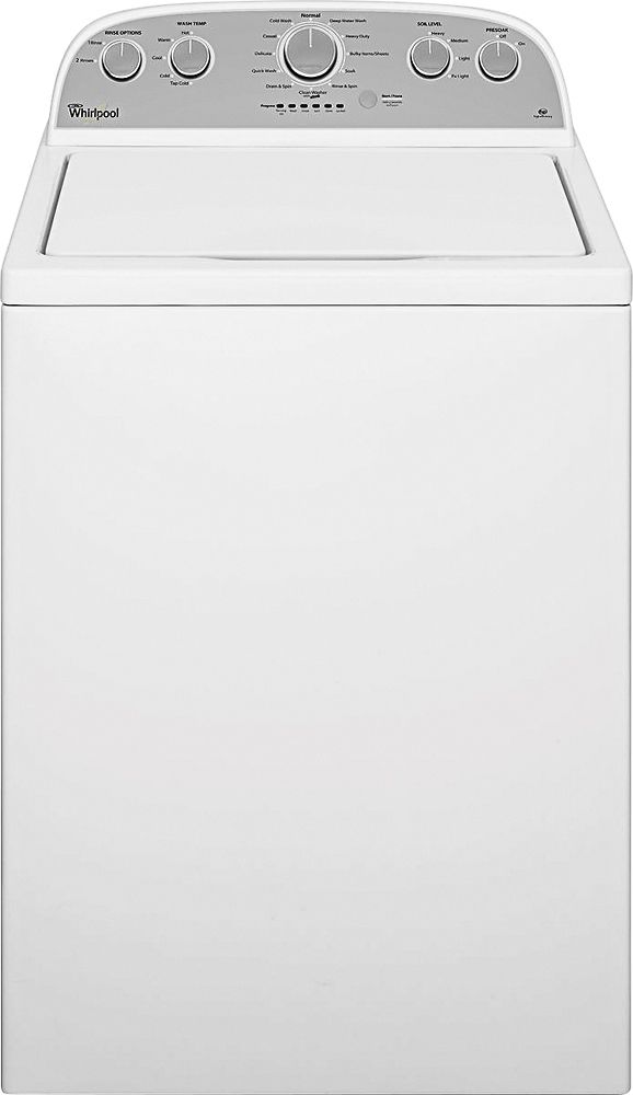 Whirlpool - 3.7 Cu. Ft. 12-Cycle Top-Loading Washer - White