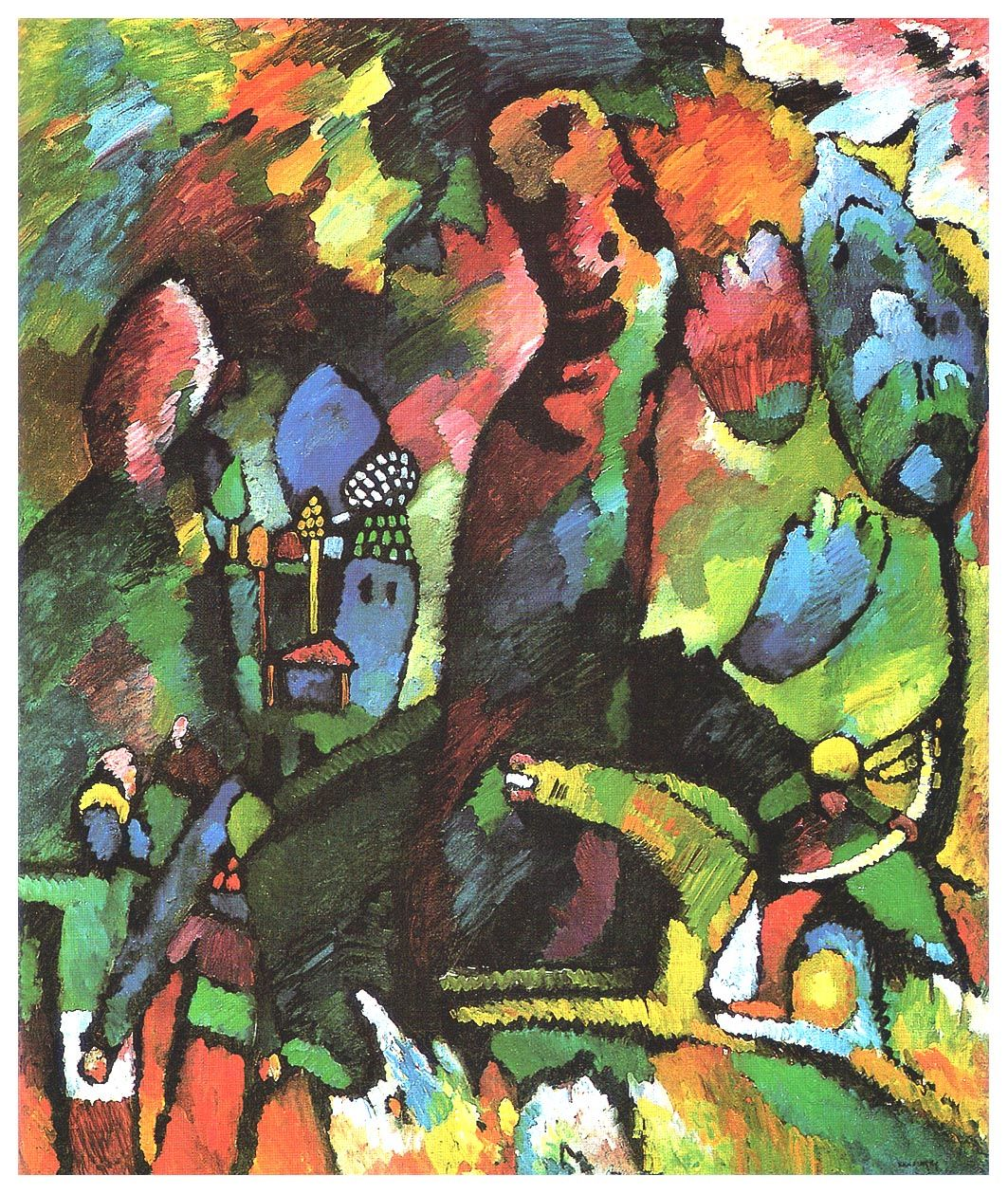 Picture with archer -    Wassily Kandinsky 1909