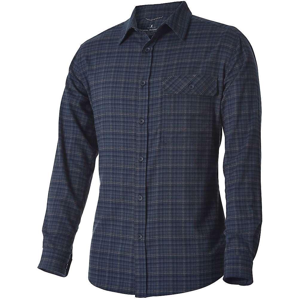 Royal Robbins Men's Peak Performance Plaid LS Shirt - XL - Navy