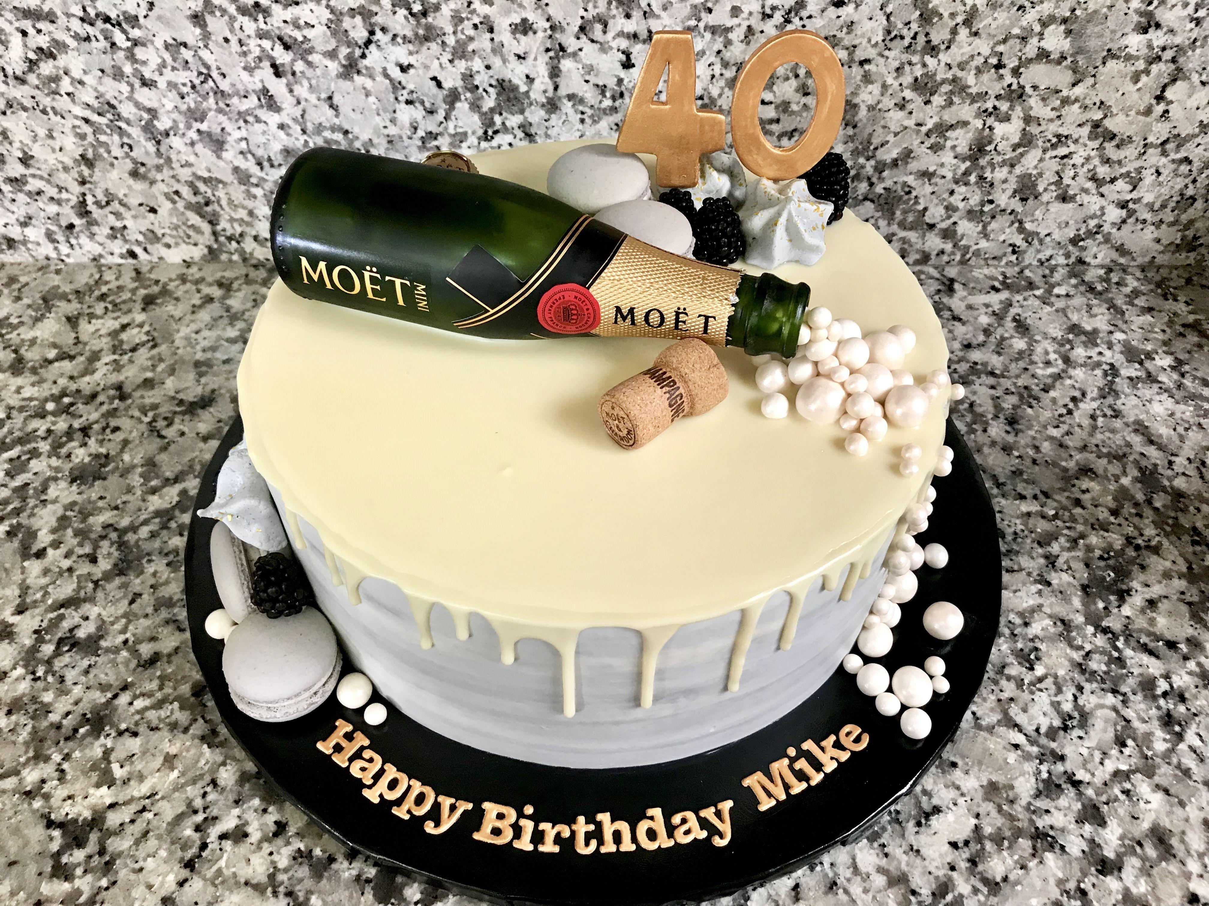 Moet Champagne Cake Birthday Cake Wine Champagne Cake Design Alcohol Birthday Cake