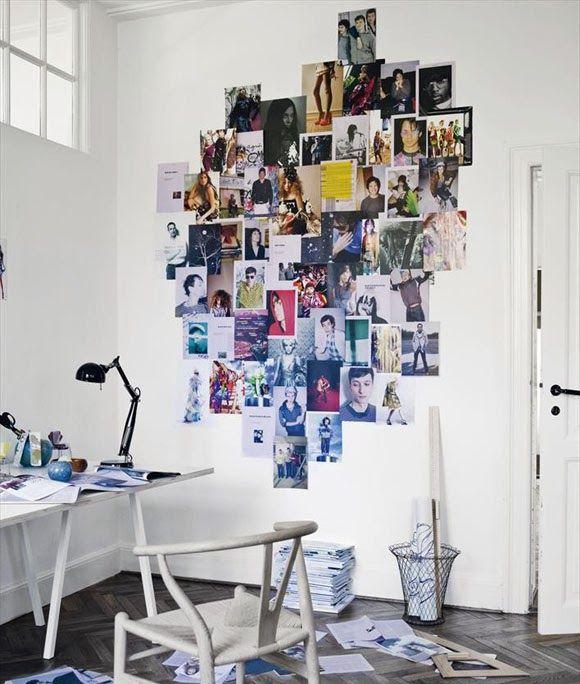 Decora Tu Pared Con Fotos Y Paginas De Revistas Diy Mural De