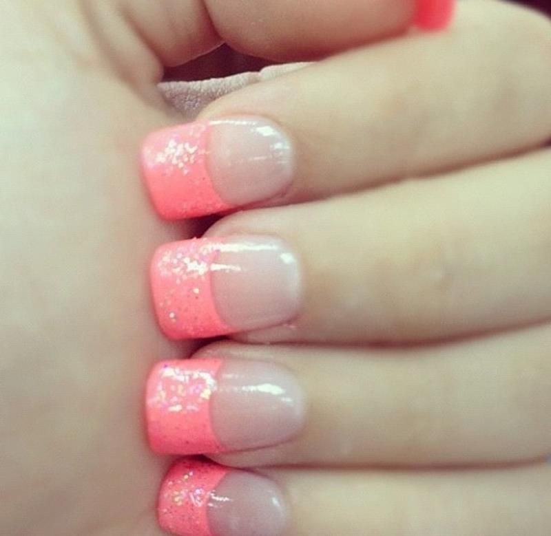 Pink French Nail Designs 2015 for Winter | nails | Pinterest | Nail ...
