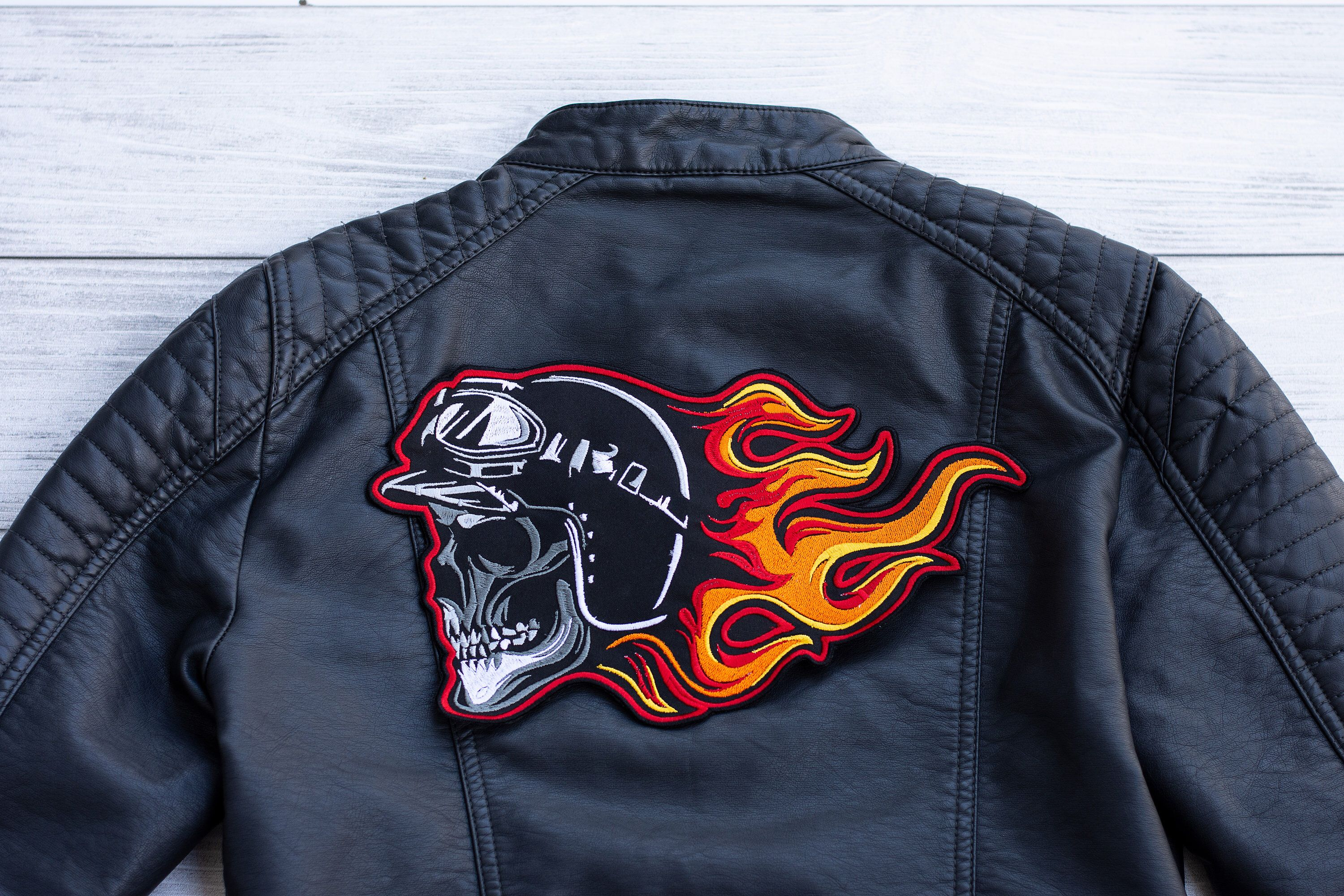 Patch for jackets 2 sizes, Clothing patches, Biker Skull