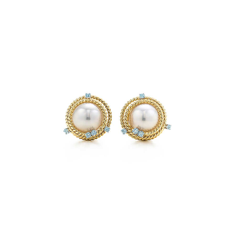 722eeaec3 Wondrful Pearl Earrings for Women Accessories. Tiffany & Co. - Tiffany & Co.  Schlumberger®:Rope Ear Clips
