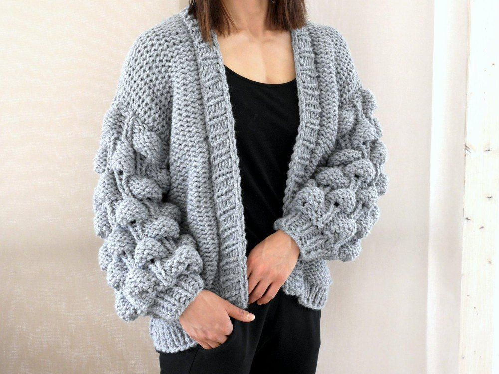 076751121 Strickanleitung - EASY - BUBBLE - CARDIGAN - No.194