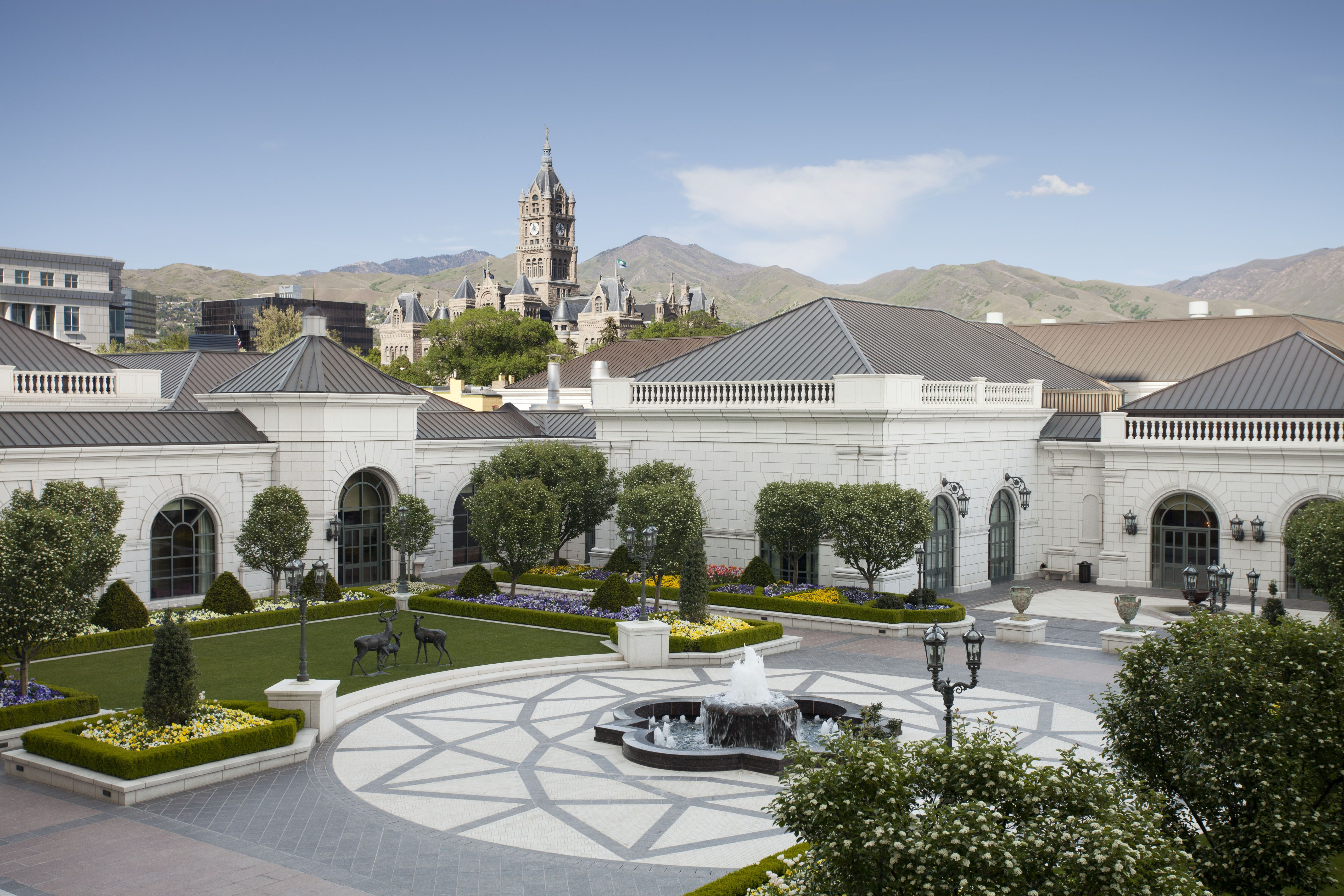 Garden Courtyard at The Grand America Hotel in Salt Lake