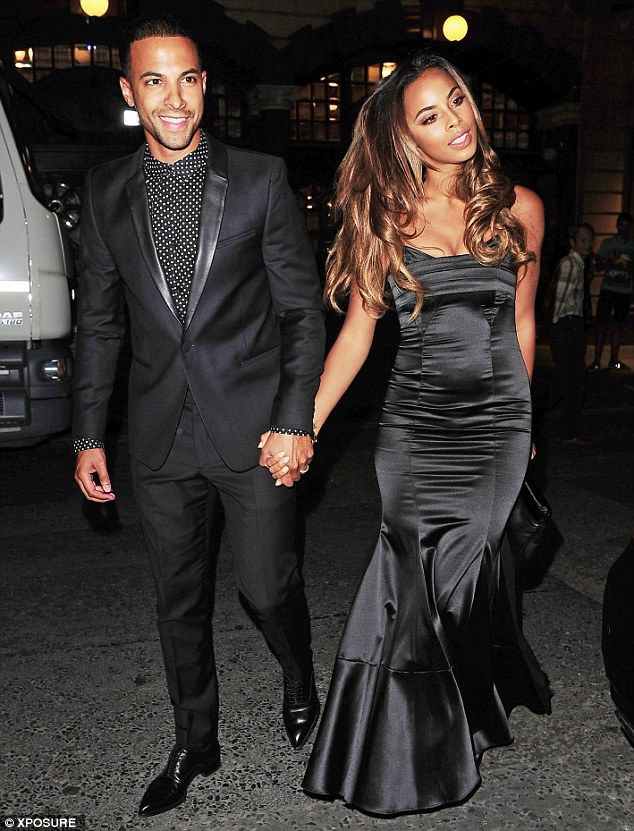 ff9eed7903 Let s party  Showbiz couple Marvin and Rochelle Humes both opted for black.