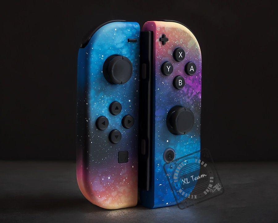 Custom Cosmic Space Galaxy Themed Nintendo Switch Joy Con Joycon Controllers Nintendo Switch Case Nintendo Nintendo Switch
