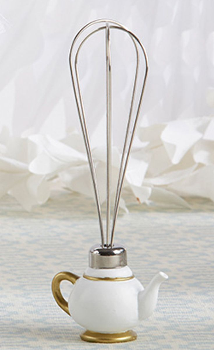 Tea Time Whimsy Teapot Whisk | Bridal showers, Favors and Shower favors