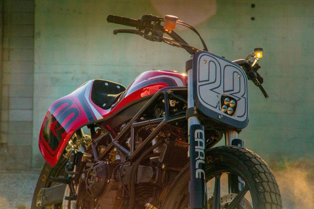 Limited production Ducati street tracker motorcycle by VW designer Alex Earle.
