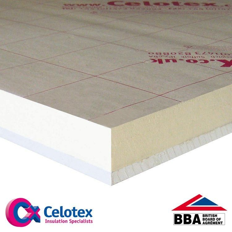 Celotex 37 5mm Insulated Plasterboard Pl4025 1 2m X 2 4m Insulated Plasterboard Plasterboard Insulation Board