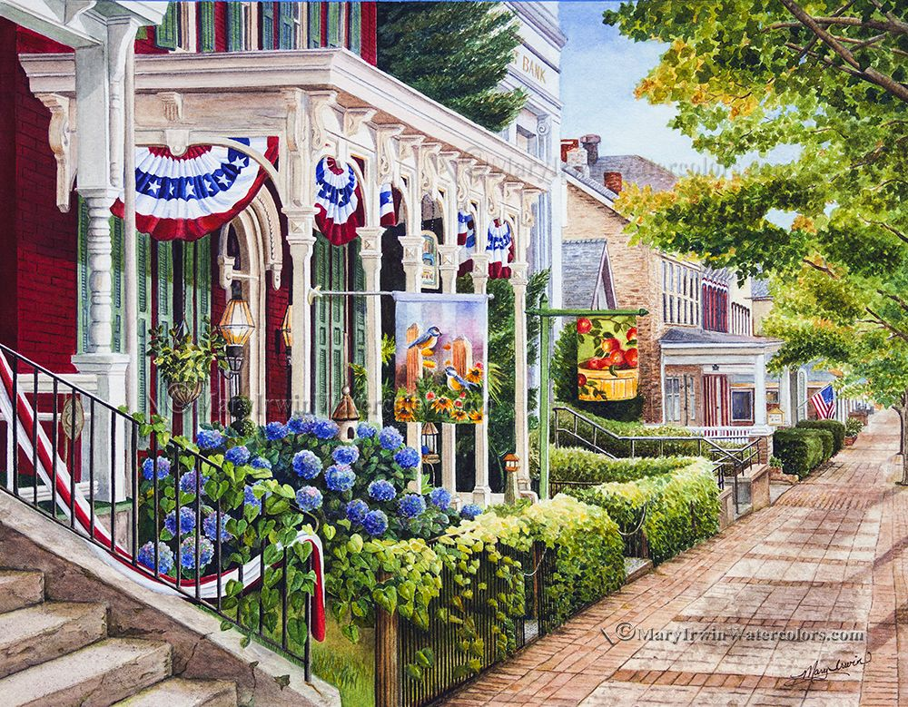 Charm of Ephrata   Watercolor by   http://www.maryirwinwatercolors.com/