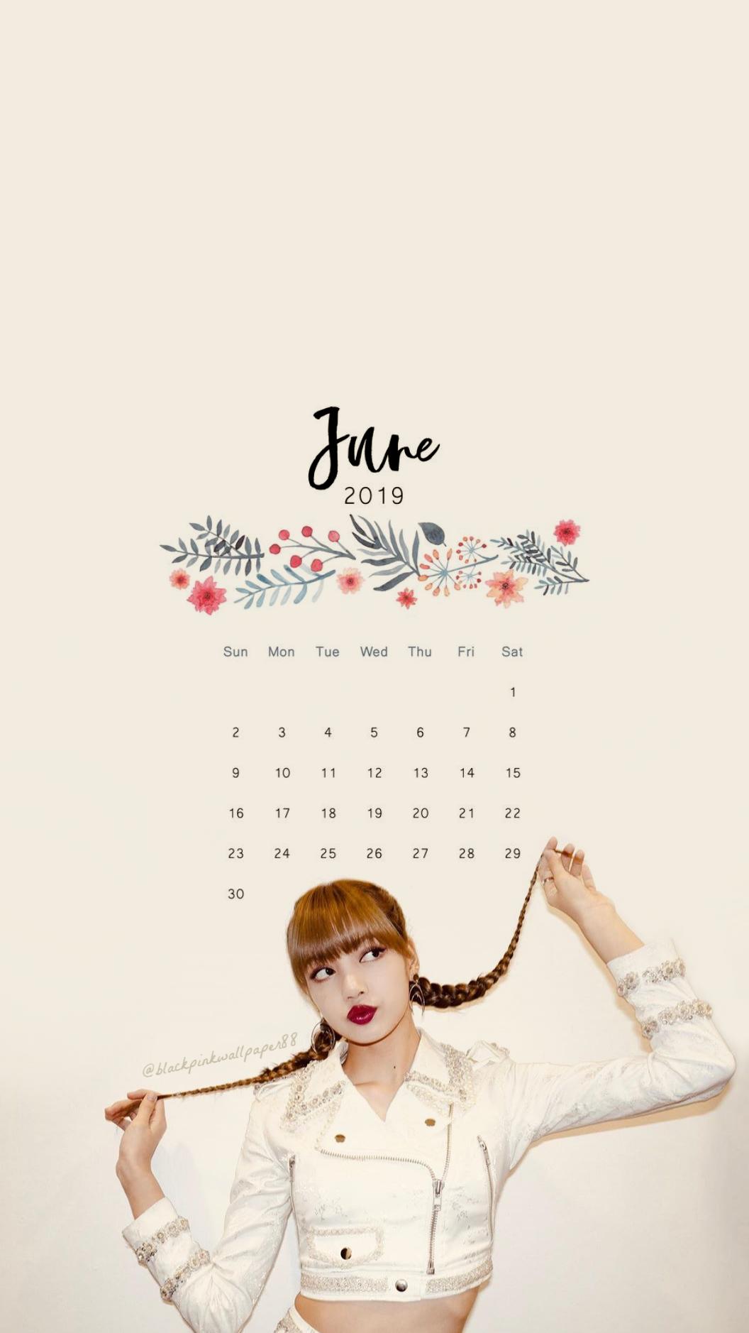 JUNE CALENDAR imagens) Blackpink wallpaper, Jennie
