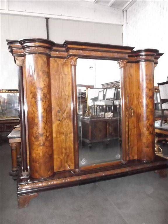 GREAT ITALIAN BURLED WALNUT CHIPPENDALE BEDROOM SET ARMOIRE ...