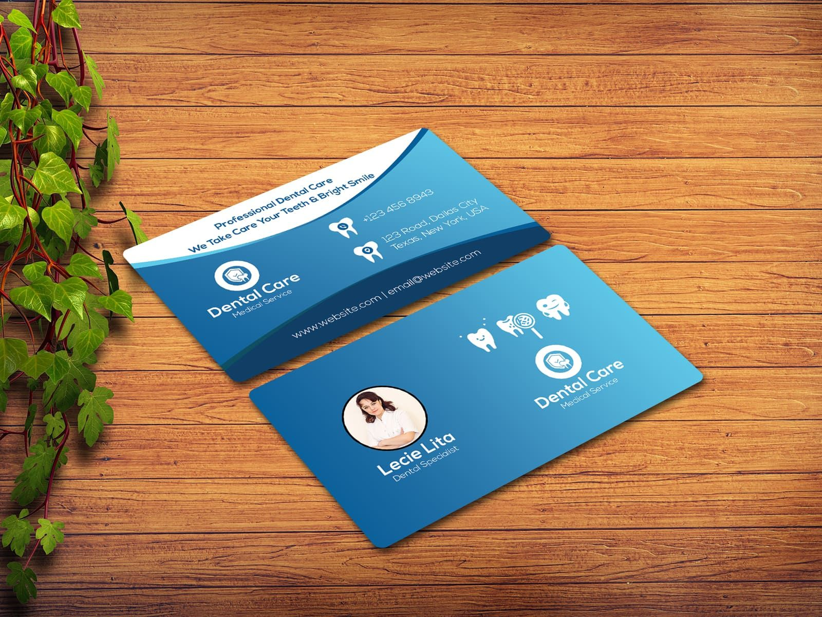 Dentist Business Card Business Cards Collection Business Card Design Creative Classic Business Card