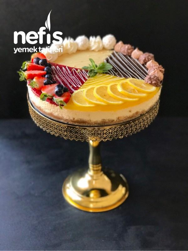 4 Renkli Cheesecake (Videolu) - Nefis Yemek Tarifleri #magnoliatarifleri