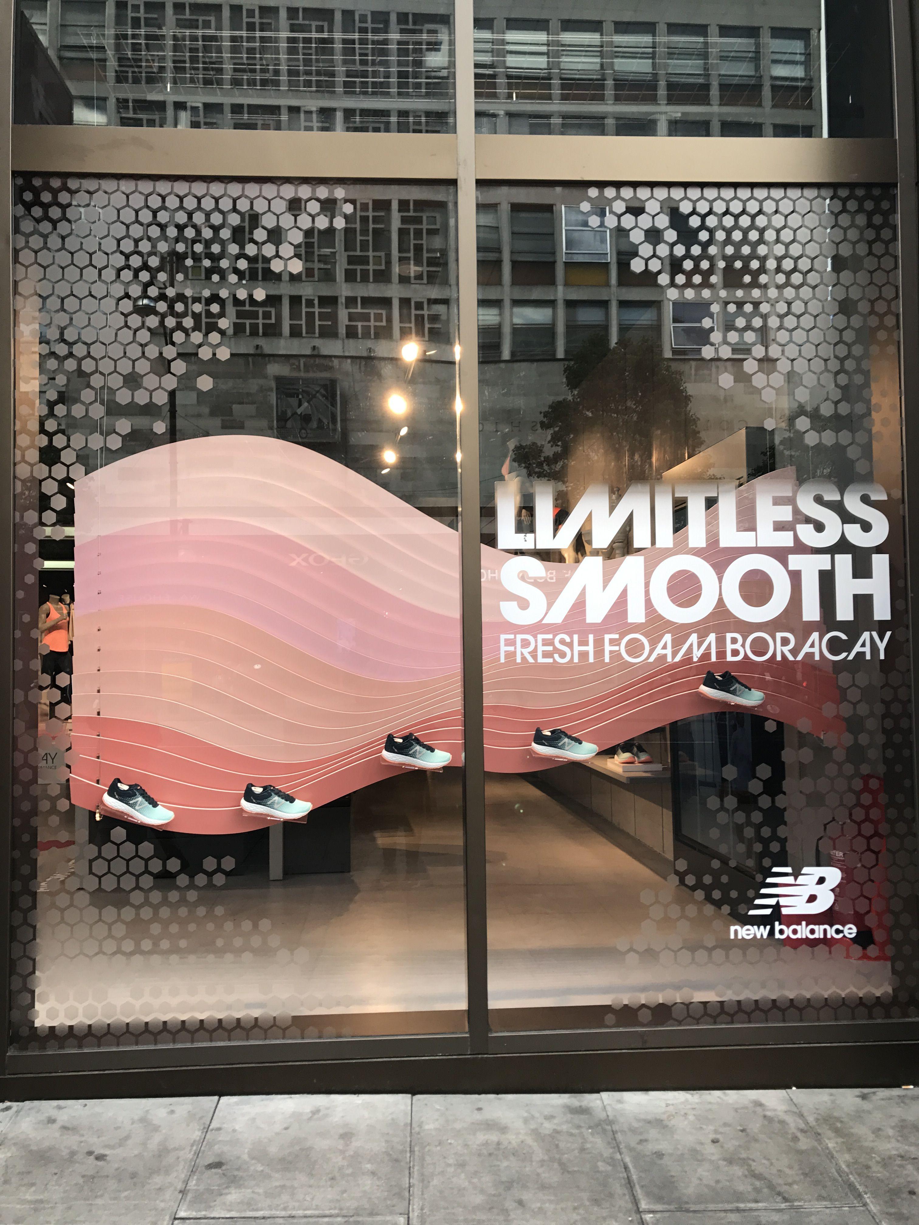 e9e91a56e8 New Balance - Central London, April 2017 #window #sportbrands #retail #vm  #visualmerchandising #newbalance