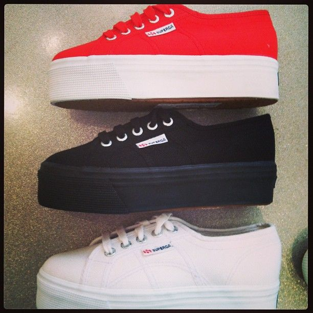 New Platform Sneakers by Superga - @thombrownshoes- #webstagram