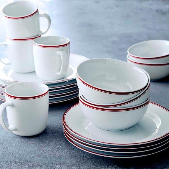 William-Sonoma Open Kitchen Red Bistro Dinnerware Collection & William-Sonoma Open Kitchen Red Bistro Dinnerware Collection ...