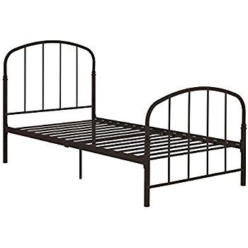 Amazon Com Emily Premium Modern Twin Metal Bed Frame Sturdy Metal