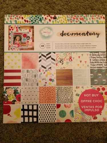 Craft Smith Block 48 Hojas Estampadas Importadas Scrapbook