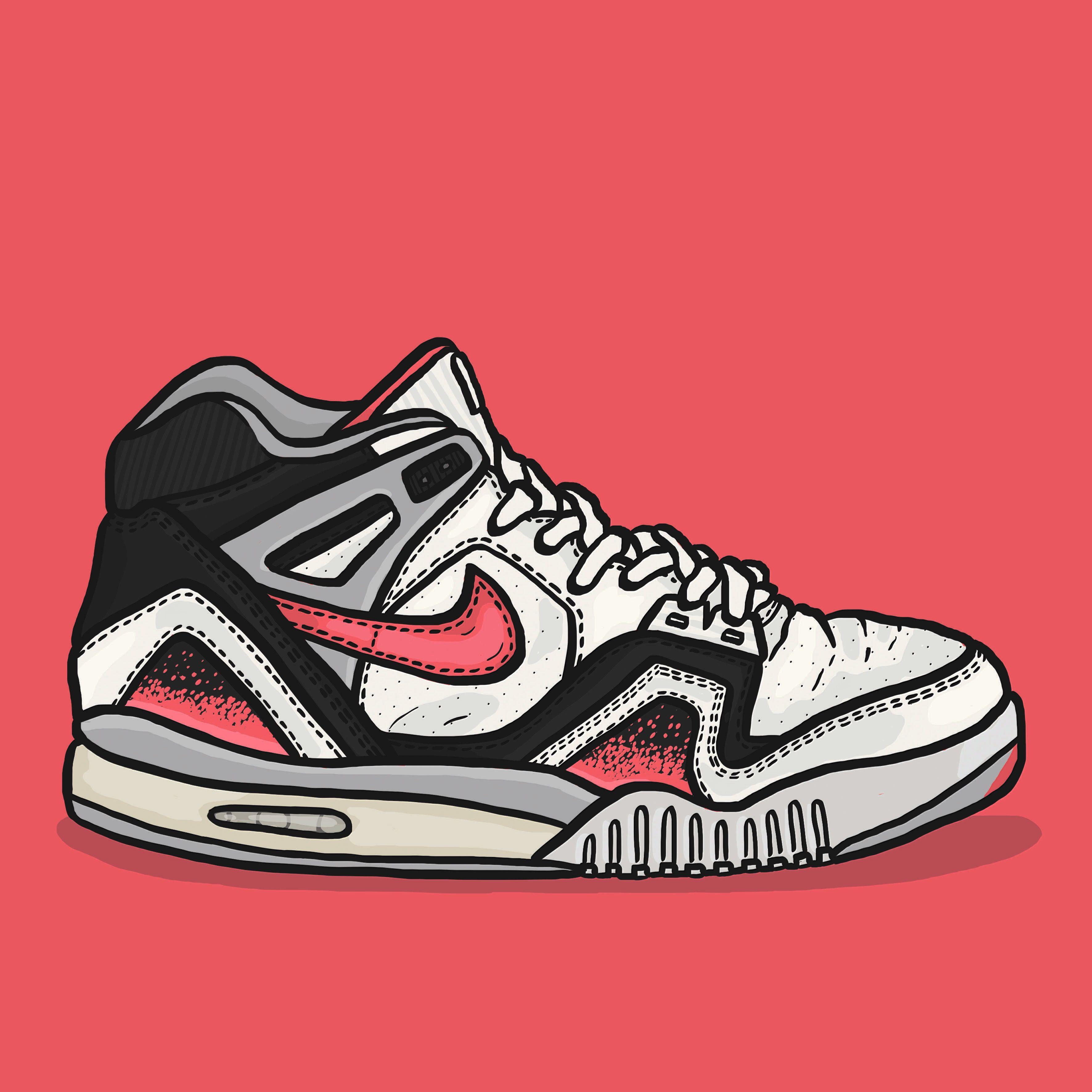 121ee4cbebf2 Nike Air Tech Challenge II hot lava  daleillustration sneaker art ...