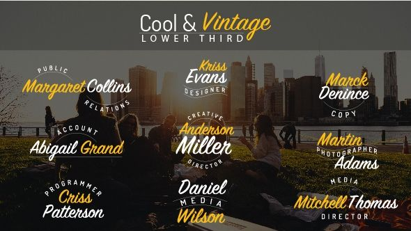 cool vintage lower third best after effects templates