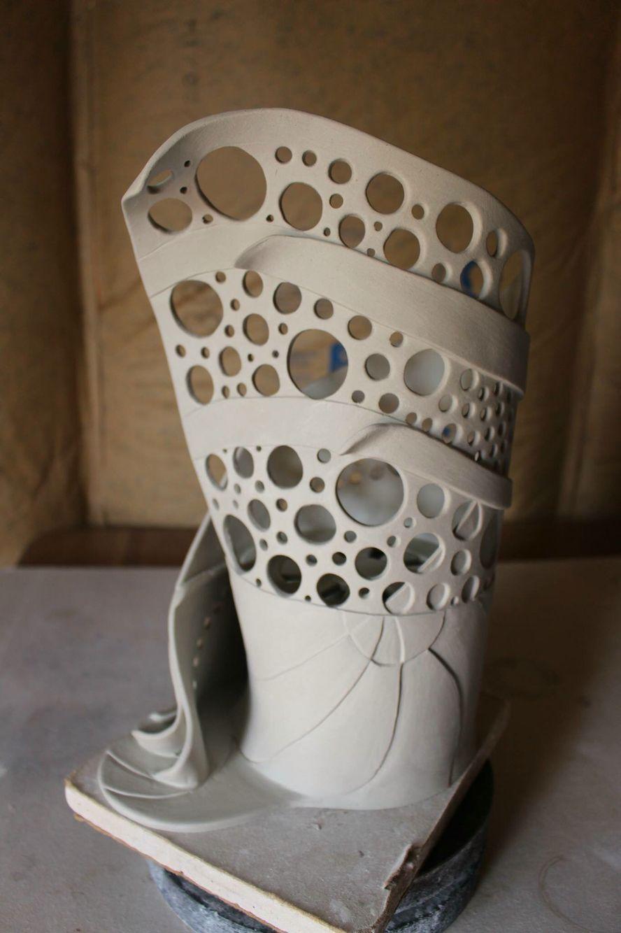 Slab Altered Vase Forms School Ceramics In 2019 Ceramics Slab Pottery Slab Ceramics