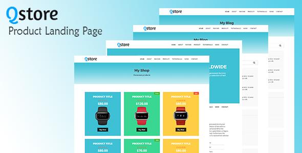 Qstore product landing page template web design portfolios and qstore product landing page httpthemeforu webdesign website design responsive besttemplates template sitetemplates retail maxwellsz