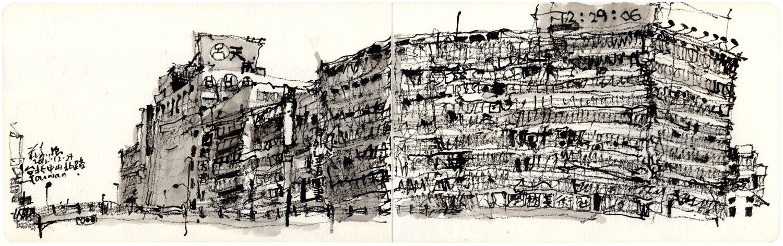 ch'ng kiah kiean | Urban Sketchers: 台灣素描之旅 Taiwan Sketching Trip with my Moleskine