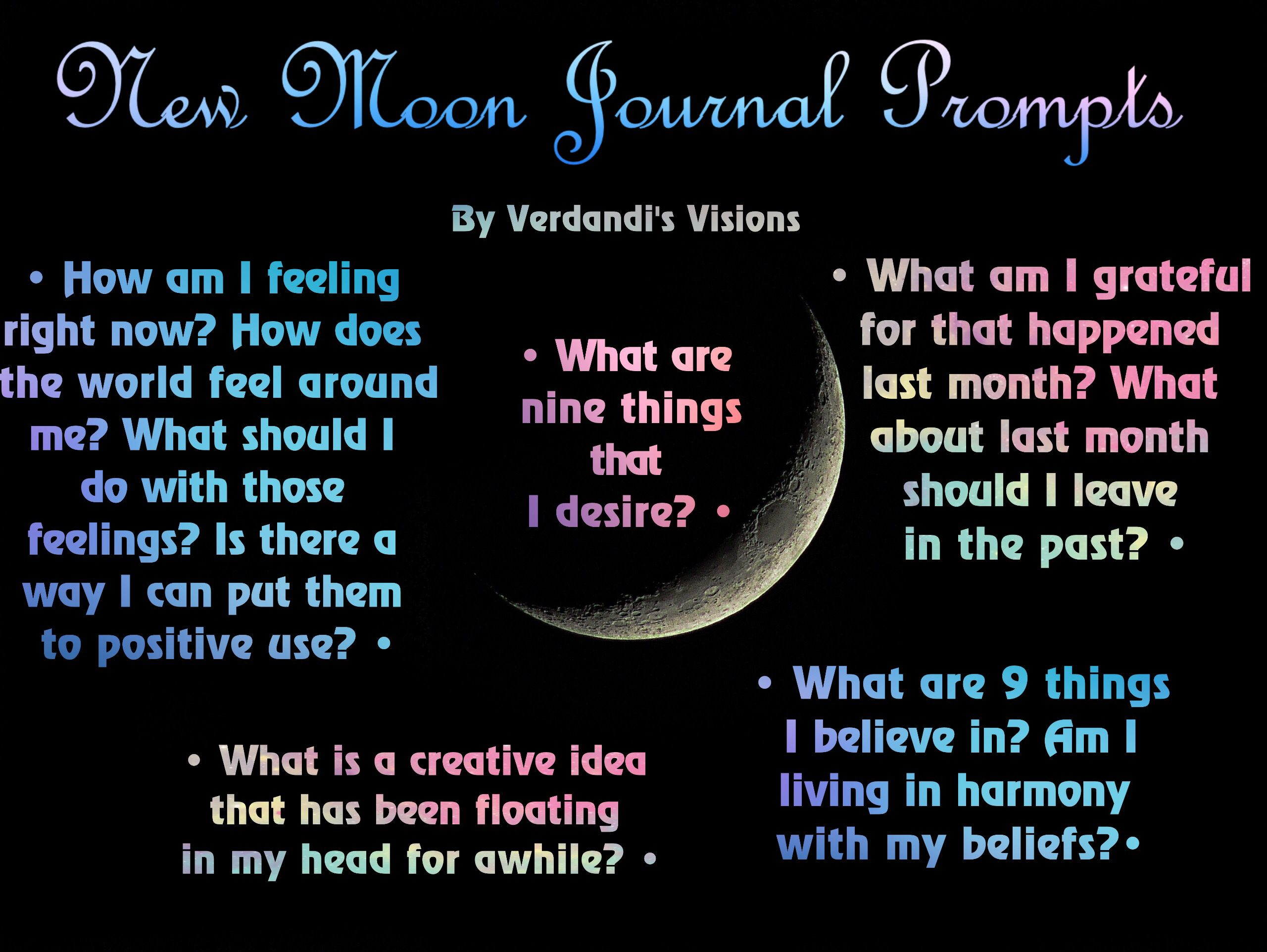 The New Moon Is A Great Time For Introspection Try One Of