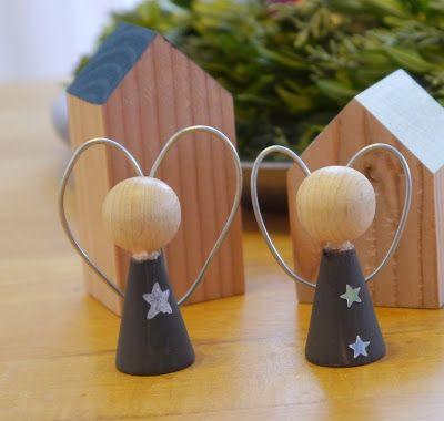 kreacaro diy weihnachtsengel aus holz for home pinterest weihnachtsengel engel und. Black Bedroom Furniture Sets. Home Design Ideas
