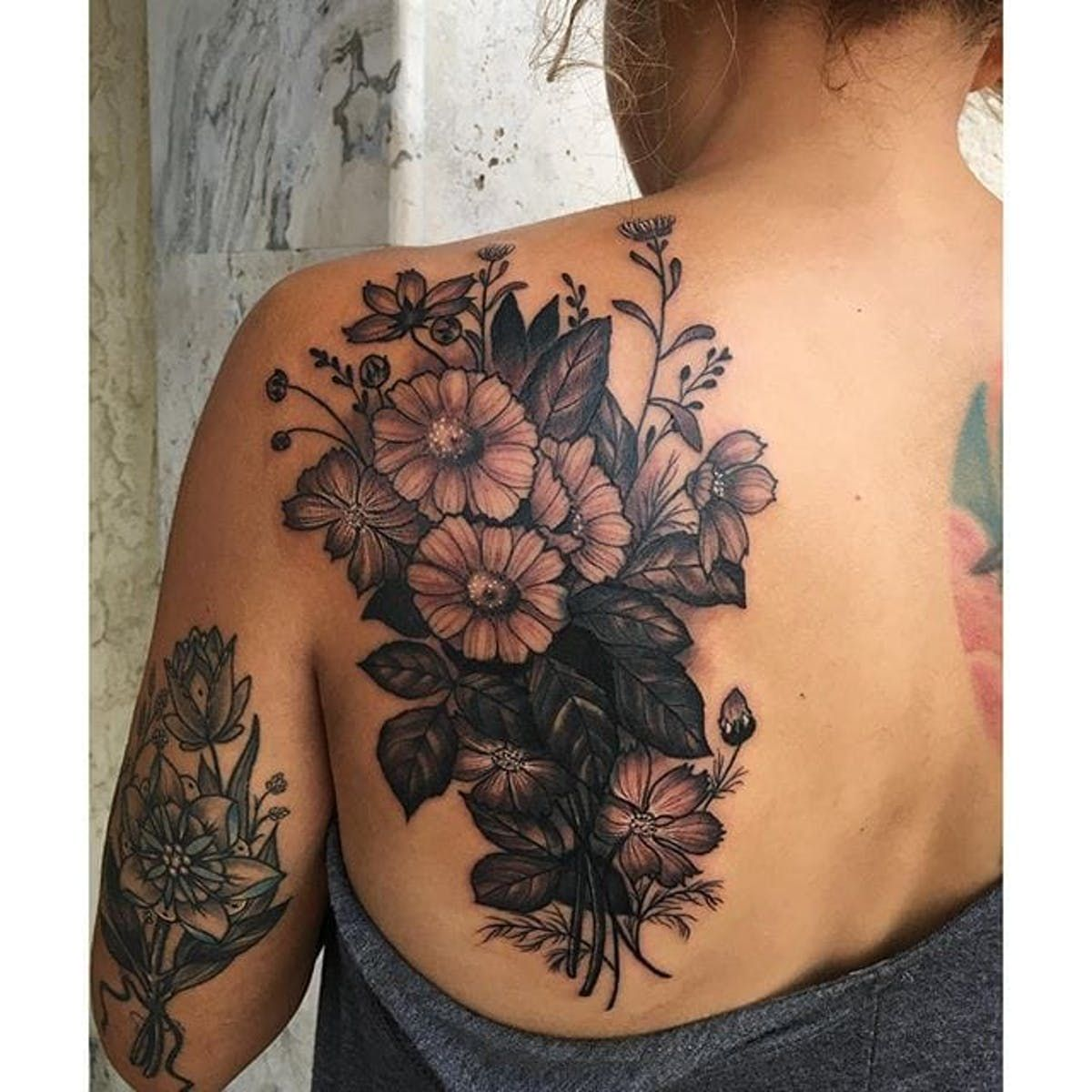 10+ Amazing Upper back tattoo cover up ideas image HD