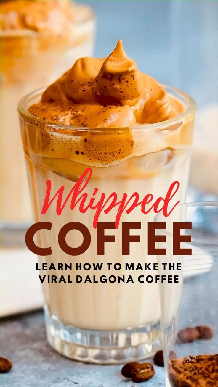 Baileys Whipped Coffee (Dalgona Coffee) Supergolden