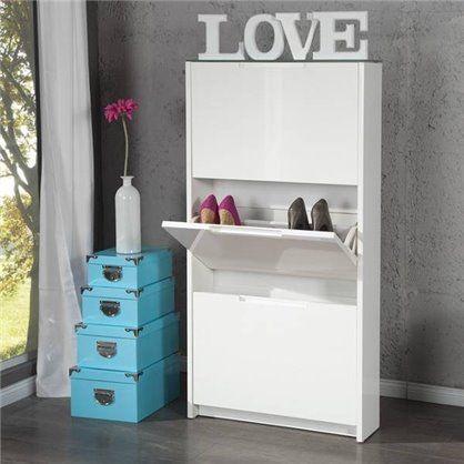 Szafka Na Buty Supreme 3 Biala Shoe Cabinet Cabinet Shoe Storage Solutions